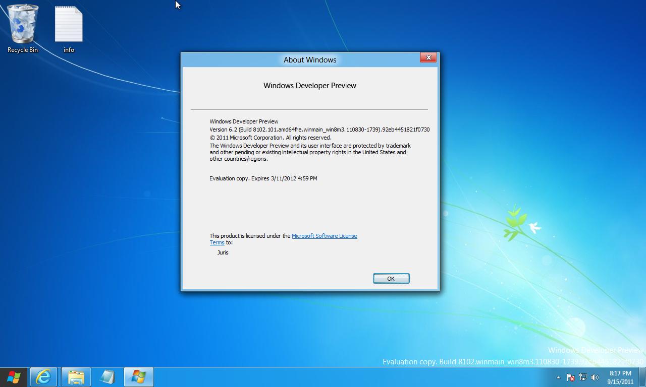 Windows 10 developer preview, download iso.