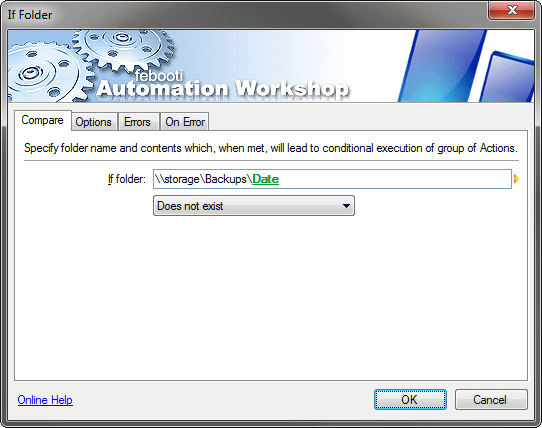 IF folder action