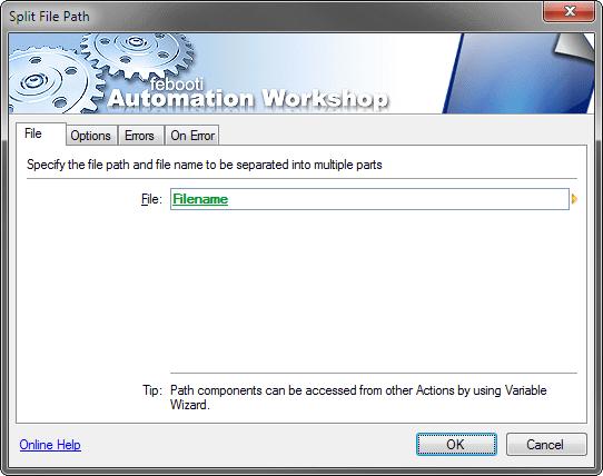 Split file path