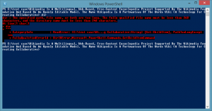 PowerShell The fully qualified file name must be less than 260 characters, and the directory name must be less than 248 characters